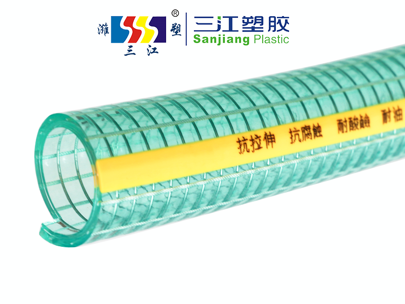 STRETCH RESISTANT STEEL WIRE HOSE